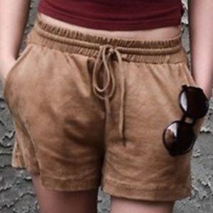 H&M Faux Suede Tan Shorts 8